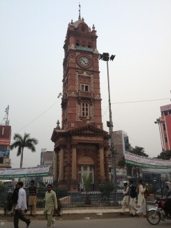 The famous Ganta Ghar of Lyllpur, the clock tower built by 1905 to commemorate the diamond jubilee of Queen Victoria.
