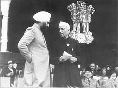 Baldev Singh and Nehru
