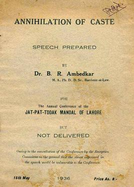 First_edition_of_Annihilation_of_Caste